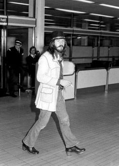 Led Zeppelin's drummer John Bonham at London/Heathrow Airport, June 1973. The coolness of Bonzo.