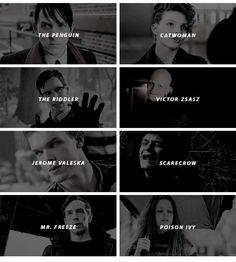 Gotham villains<<I LOVE THEM ALL WITH NY ENTIRE HEART I JUST AHGHFJSBXJ