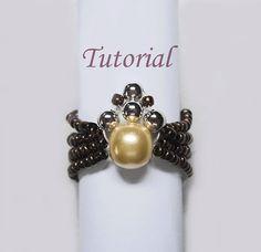 Beading Tutorial  Beaded Spider Ring by Splendere on Etsy, $4.00