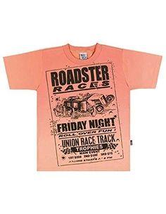 Boys T-Shirt Kids Top Graphic Tee Pulla Bulla Size 2-4 Years - Salmon (Pink), Boy's