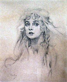 Alphonse MUCHA (1860-1939)   Maude Adams