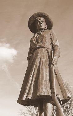 Annie Oakley statue in Greenville, Ohio.