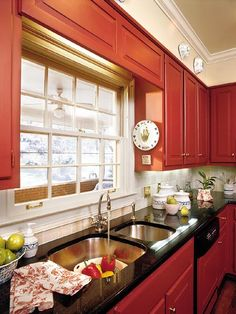 A red kitchen from Southern Living...2
