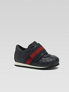 COVET! Gucci Infant's & Toddler Boy's Leather GG Web Sneakers