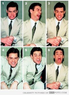 It just wouldn't be right to have a facial expression board on my Pinterest without a Jim Carrey expression on it.. I MEAN THE ALL TIME BEST OF CRAZY AWESOME FACES! Just saying!