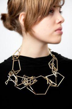 "Esther Kim - Nest Architecture (13 x 9 x 2""), brass - [BFA 2011 Jewelry+Metalsmithing at RISD]"