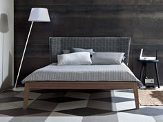 Double bed with upholstered headboard GRAY 77 I Gray Collection by Gervasoni | design Paola Navone