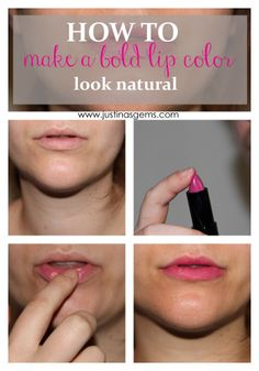 how to make a bold lip color look natural.