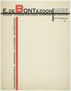 Paul Schuitema - De Bont and Sons Letterhead, 1928