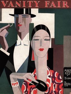 Cover illustration by Eduardo Garcia Benito (1891-1979), March 1927, Vanity Fair. (Spanish Art Deco)