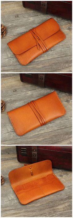 Hand Stitched Full Grain Vegetable Tanned Leather Wallet Clutch Bag Dimensions: Length: 20 cm; Height: 10 cm; Width 2cm Color: Coffee/Red/Black/Brown