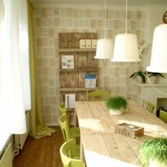 Use book pages to cover your walls! @ By Wilma