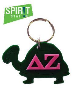 Delta Zeta Symbol Keychain