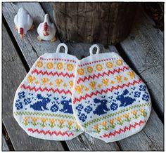 Ravelry: Påskeegg og påsketua pattern by Jorunn Jakobsen Pedersen Fair Isle Knitting, Pot Holders, Ravelry, Easter, Crochet, Crafts, Design, Knits, Autumn