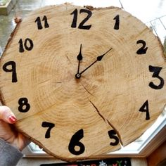 Tutorial on how to make a clock from a circular piece of wood cut from a tree.