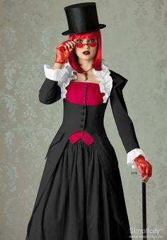 #SteampunkFashion - Misses' Victorian Era Inspired Coat, Skirt & Bustier. #SimplicityPatterns
