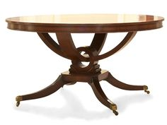 Shop for Holland & Co Dandy Dining Table, 7245, and other Dining Tables at Lee Jofa New in New York, NY. Shown in swirl mahogany veneer and mahogany banding.