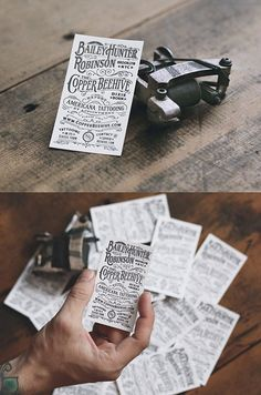 Americana Tattooing Letterpress | Business Cards Published by Maan Ali