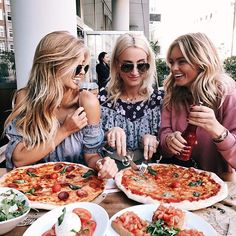 Pizza is life and so are my girlfriends