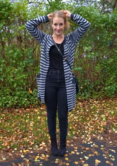 Striped cardigan from Second Female. See more here: http://www.kathrinerostrup.dk/2013/11/striped-angora/