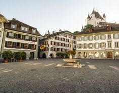 #Thun, with its bustling Old Town dominated by its imposing castle, is the gateway to the Bernese Oberland.