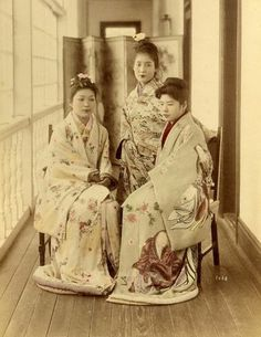 Japanese Prostitutes of the 19th Century  photographer and date unknow