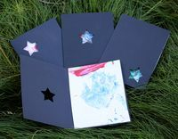 small + friendly: Toddler Art Father's Day Cards