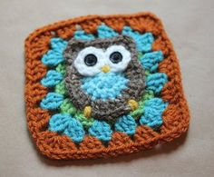 Owl Make This Crochet Square / FREE CROCHET pattern / for a cute baby lovey or blanket or even for yourself / I think this little guy is cute