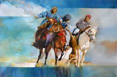 Artist: Shan Amrohvi Artwork Code: AC-SA-008 Medium: Oil on Canvas Size: 24 x 36 inch