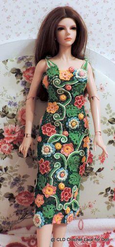 Dress Crochet/ Irlend Lace /Handmade/Iplehouse BJD SID 1/3