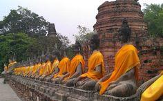 Ayutthaya, Thailand — by Aoy Sunshine. Temple in Pra Nakorn Sri Ayutthaya province