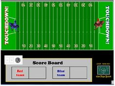 This interactive game makes for great math practice & review, especially with Super Bowl Sunday just around the corner. Complete with NFL music, plays, and penalties- it is sure to be an engaging learning activity!  Played in a small group or whole class setting, students work individually, or as a team, to solve multiplication and division math problems. Problems vary from basic equations to higher level thinking story problems.  Covers several Common Core State Standards. (CCSS)
