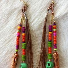 Horse Hair Earrings | Santa Fe Pony Express
