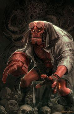 WEST COAST AVENGERS • Hellboy | Matt De Mino