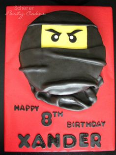 Ninjago birthday cake for one of twin boys.