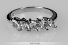 Julian Classic 5 Stone Marquise Ring | 1.2 Carat | Cubic Zirconia | .925 Sterling Silver