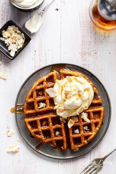 Coconut Cream Pie Waffles | http://cafedelites.com