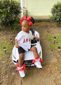 Cute Mixed Babies, Cute Black Babies, Beautiful Black Babies, Cute Little Girls Outfits, Toddler Girl Outfits, Kids Outfits, Cute Kids Fashion, Baby Girl Fashion, Black Baby Girls