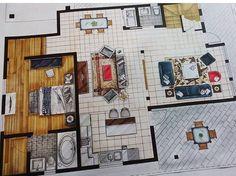 Interior Architecture Drawing, Drawing Interior, Architecture Sketchbook, Interior Sketch, Architecture Portfolio, Architecture Design, Classical Architecture, Interior Design Tools, Interior Design Renderings