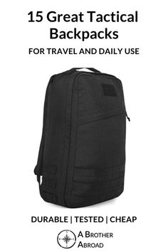 Discover the 23 best tactical travel backpacks. Minimalist, tough, packed with features you need for travel, adventure and daily life Travel Pants, Travel Shirts, Travel Backpack, Hiking Essentials, Tactical Backpack, Travel Workout, Hiking Gear, Best Places To Travel, Everyday Carry