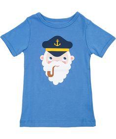 Lily Balou adorable captain printed sky blue T-shirt. lily-balou.en.emilea.be
