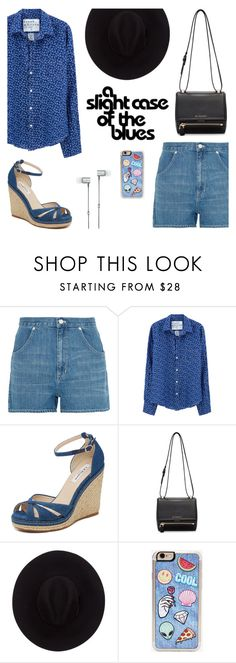 """Blue"" by nabilaclydea on Polyvore featuring Madewell, Frank & Eileen, L.K.Bennett, Givenchy, Brixton, Zero Gravity, Master & Dynamic, jeanshorts, denimshorts and cutoffs"