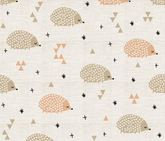 baby hedgehogs are the cutest fabric by laura_the_drawer on Spoonflower - custom fabric