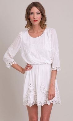 Our Elizabeth Dress is an absolute favorite. Its easy wearing silouhette is so sweetly finished with a large victorian lace. Fashion Outfits, Womens Fashion, Dress Me Up, Spring Summer Fashion, Look, White Dress, Vintage Fashion, Style Inspiration, Summer Dresses