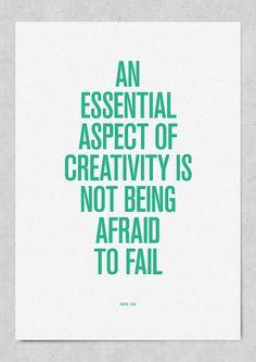 """Not afraid to """"fail"""""""