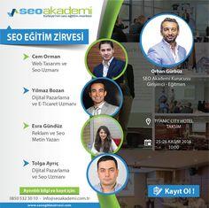 Türkiye'nin en iyi SEO eğitmenlerinden eğitim alma fırsatı! 25 - 26 Kasım SEO Zirvesi'ni kaçırmayın, biletler tükenmeden yerinizi alın...  http://www.seoegitimzirvesi.com/ #seoeğitimi #seoeğitim #seozirvesi #seokursu #seo