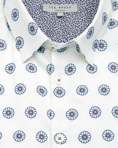 Large floral printed cotton shirt - Mint  913498bf901f6