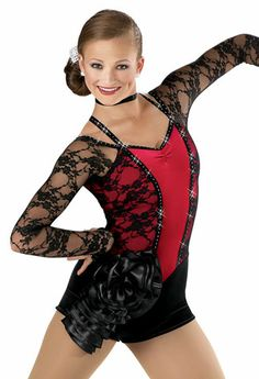 Sequin Wired Bustle Leotard -Weissman Costumes