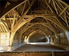 Timberframe precursor: Leigh Court Barn is a medieval barn that was used for storing and threshing grain. The barn is the only surviving building from the manor of Leigh Court which originally belonged to Pershore Abbey. The barn is reputed to be the largest cruck building in England.