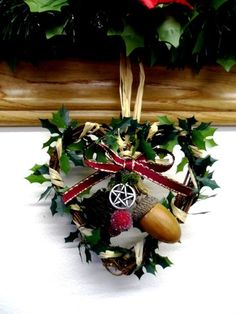 Mouse over image to zoom    Sell one like this  Handmade Pagan Rustic Woodland Yule Vine Heart. Decoration / Small Wreath.